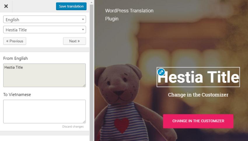 translate press custom theme