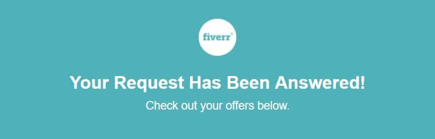 Fiverr email gig recommendations