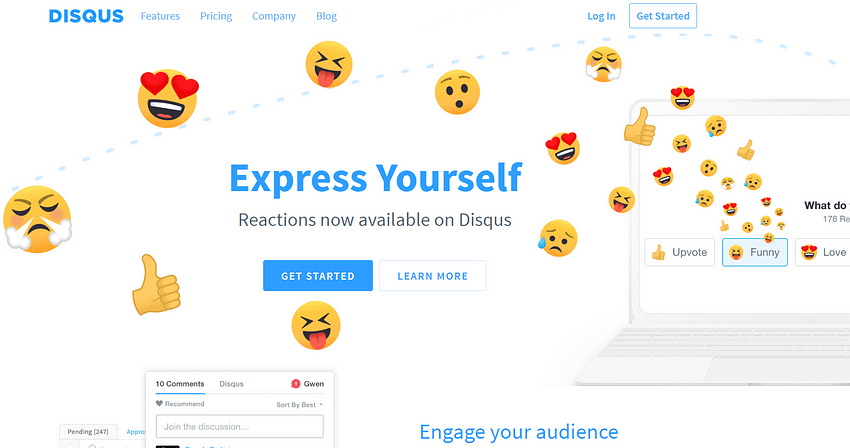 Disqus Comments Homepage