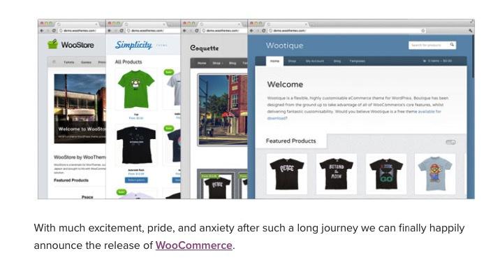 WooCommerce launch