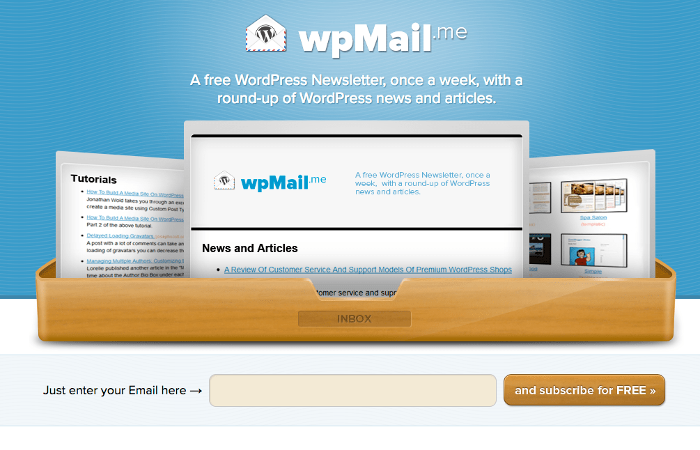 WPMail.me is a popular weekly WordPress newsletter.