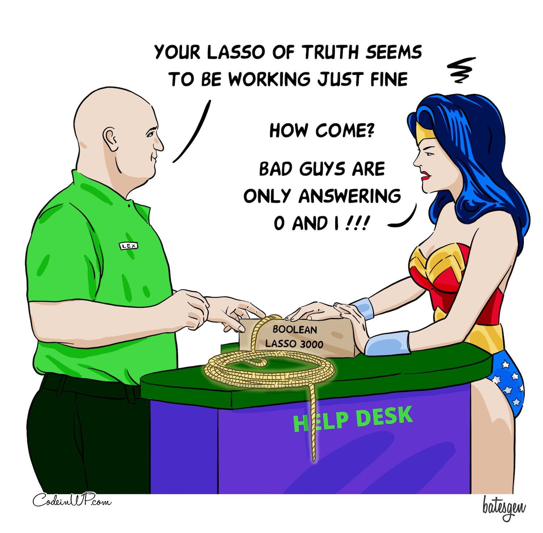Speaking bool comics