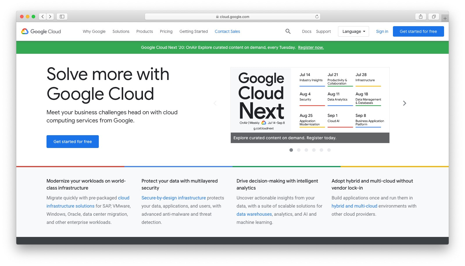 DigitalOcean alternatives: Google Cloud
