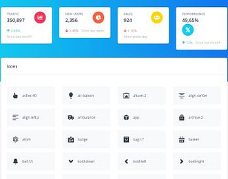 Argon Dashboard React view