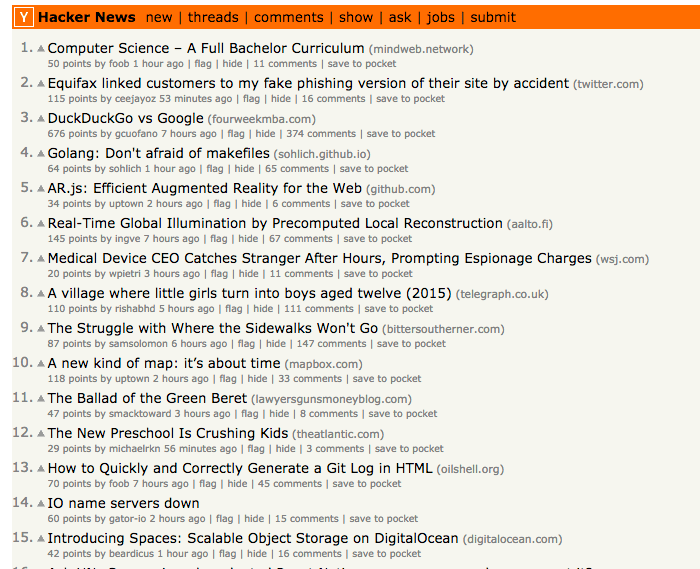 """Hacker News is a popular """"reddit for technology"""" sharing site."""