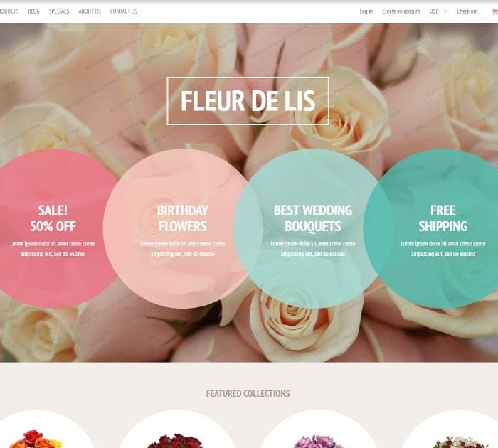 Best Free Shopify Themes: Fleur de lis