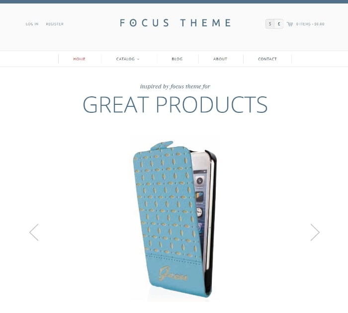 Best Free Shopify Themes: Focus