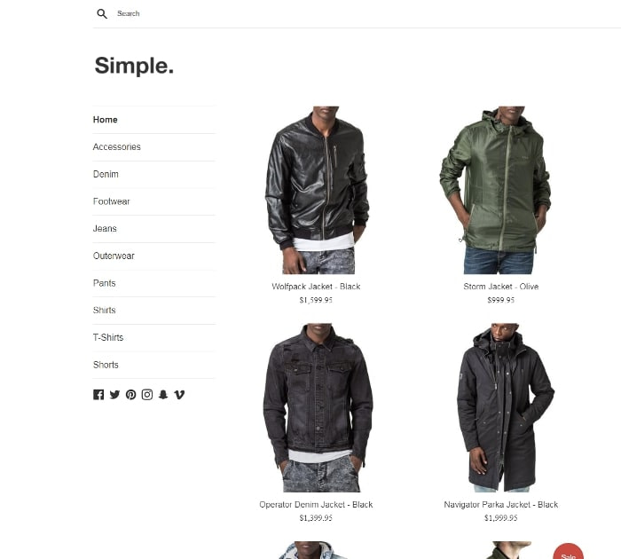 Best Free Shopify Themes: Simple