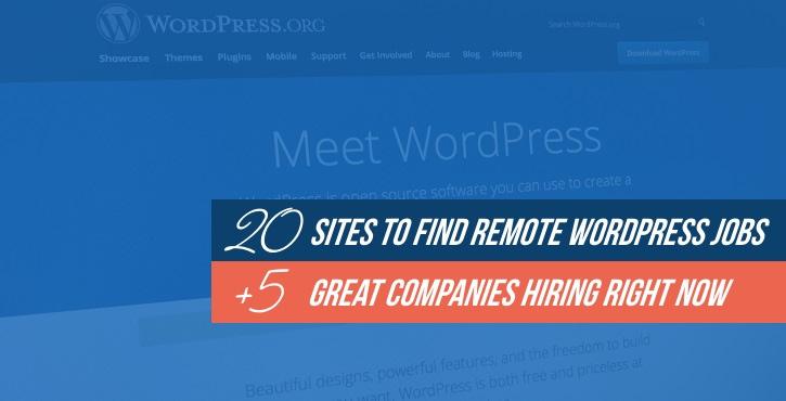 where to find WordPress jobs