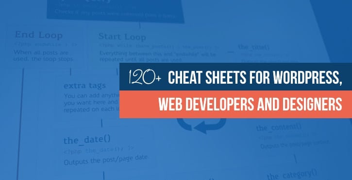 WordPress cheat sheets + web development and design