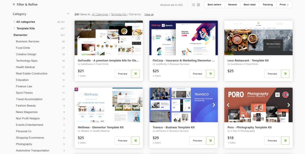 Template Kits by Envato Elements - June 2020 WordPress news