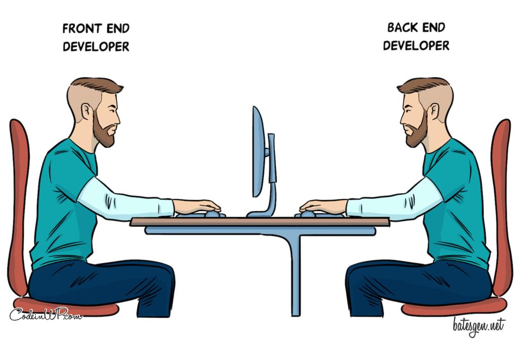 Front end vs back end - Best Tech Comics of 2020