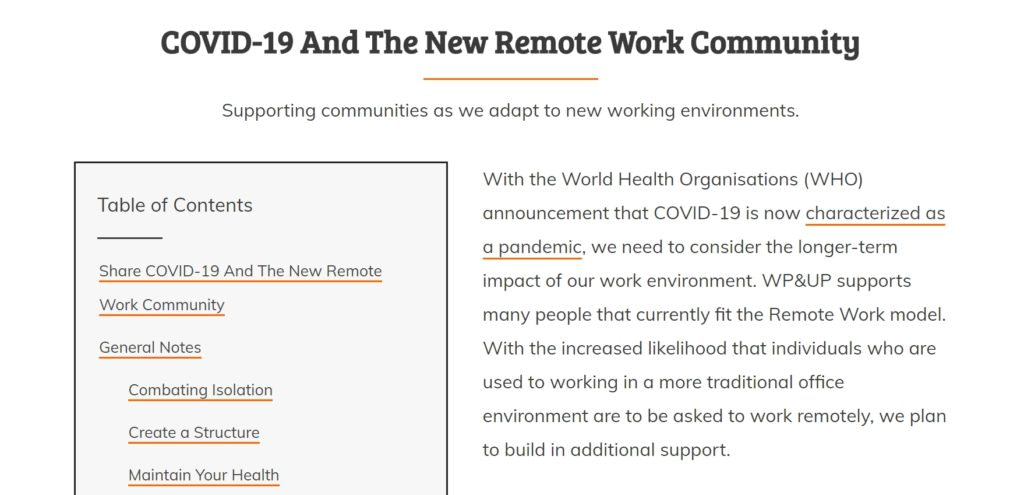 Remote work guide during COVID-19 - April 2020 WordPress news