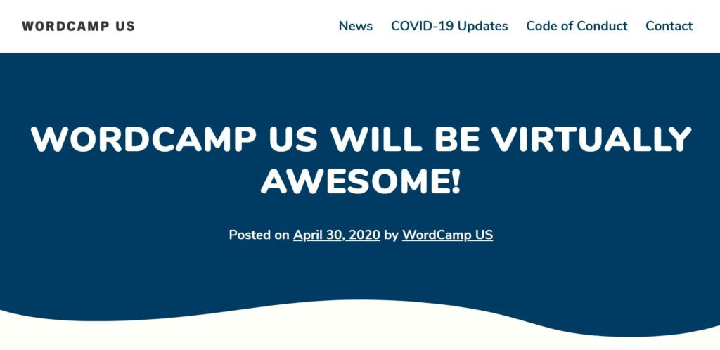 WordCamp US 2020 will be virtually awesome