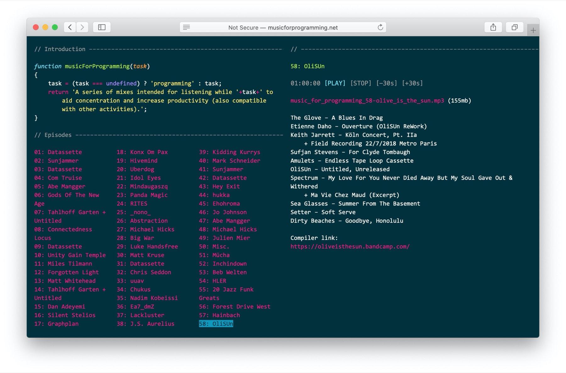 Music for Programming