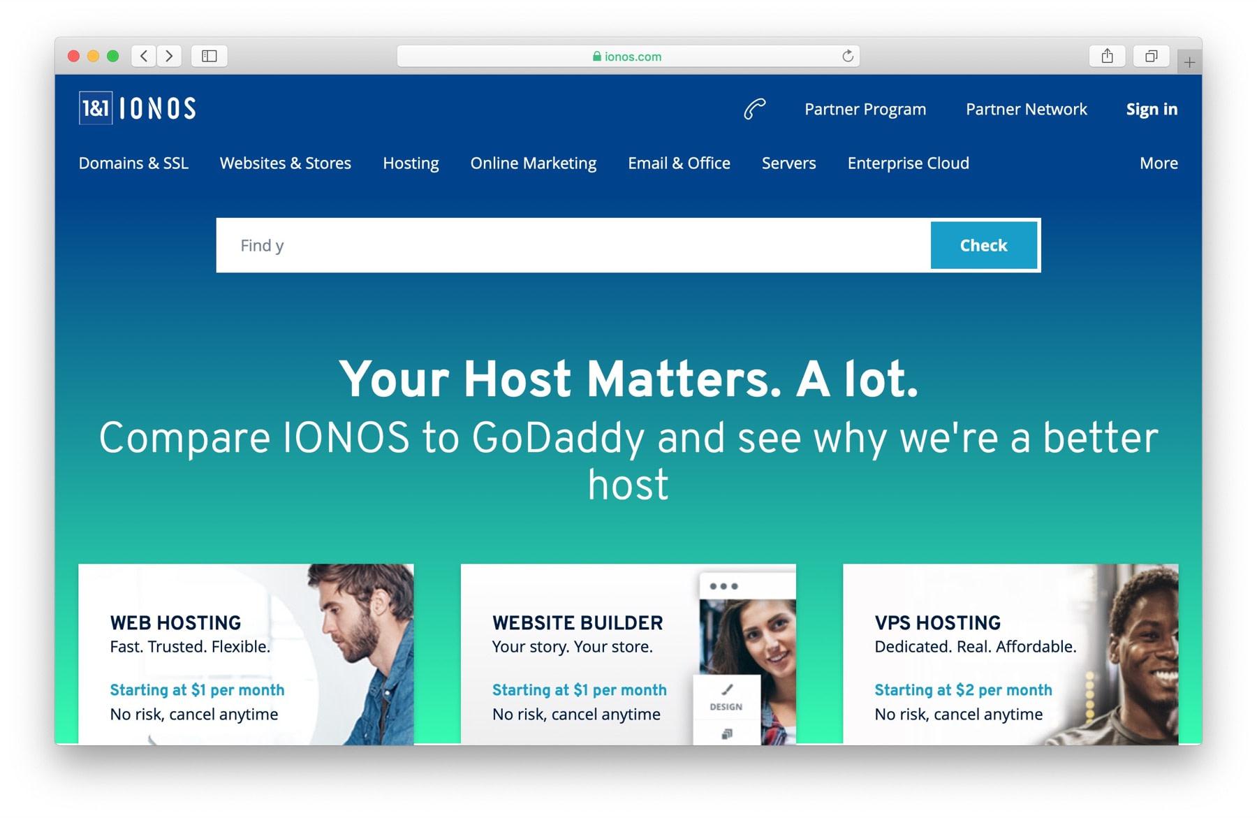 Best domain name registrar #3: 1&1 Ionos