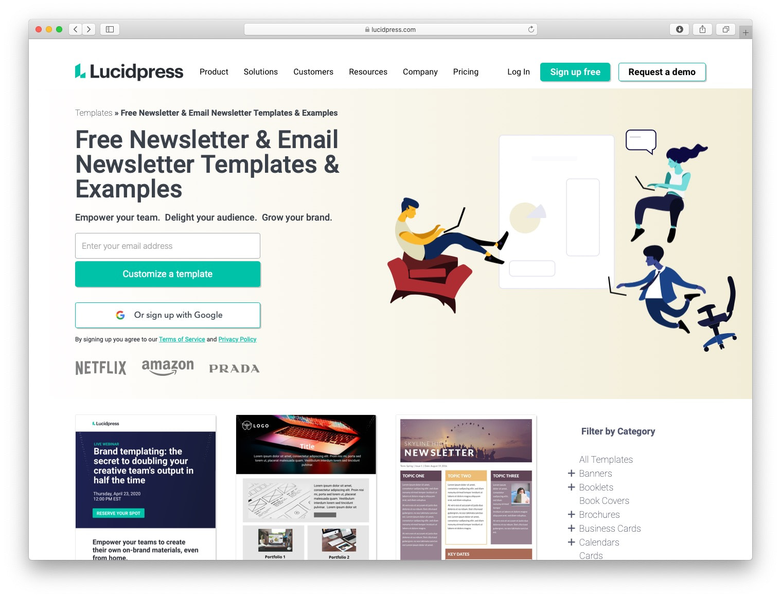 Free email newsletter templates: lucidpress