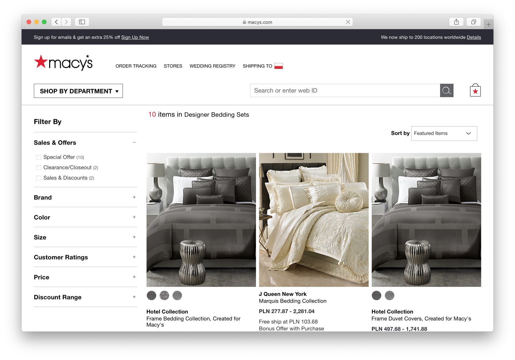 macys example of how to start eCommerce business