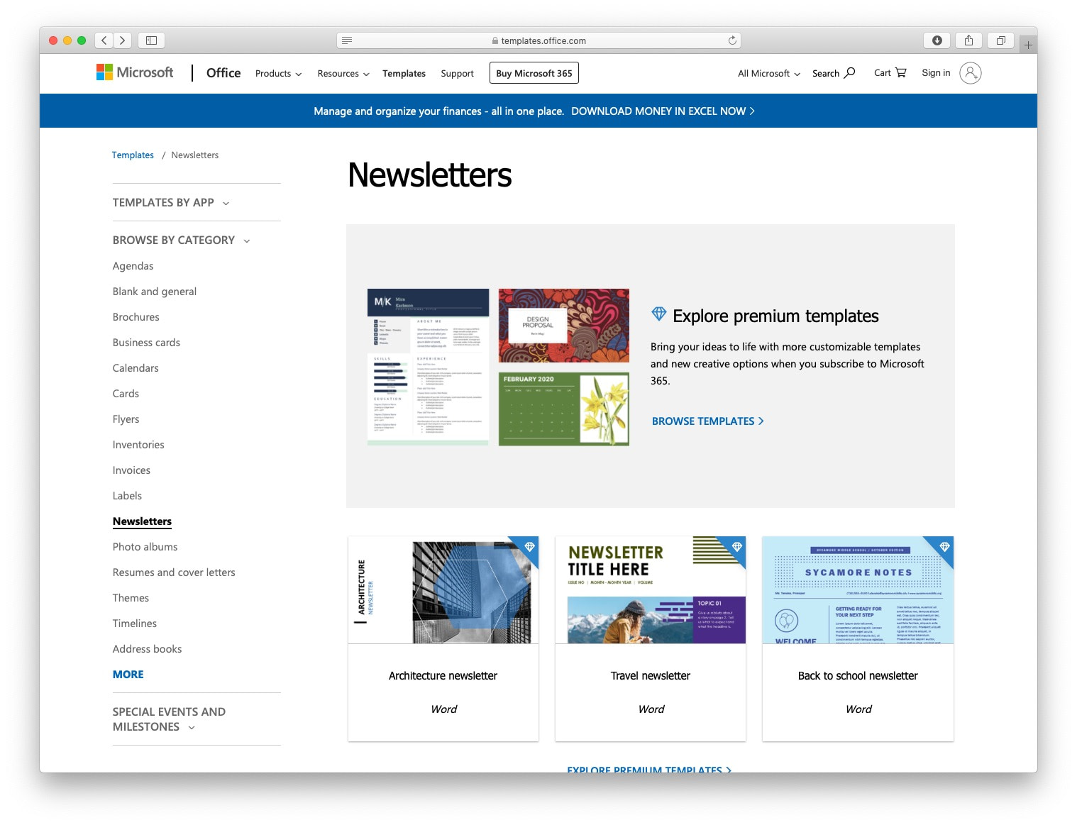 Free email newsletter templates: microsoft