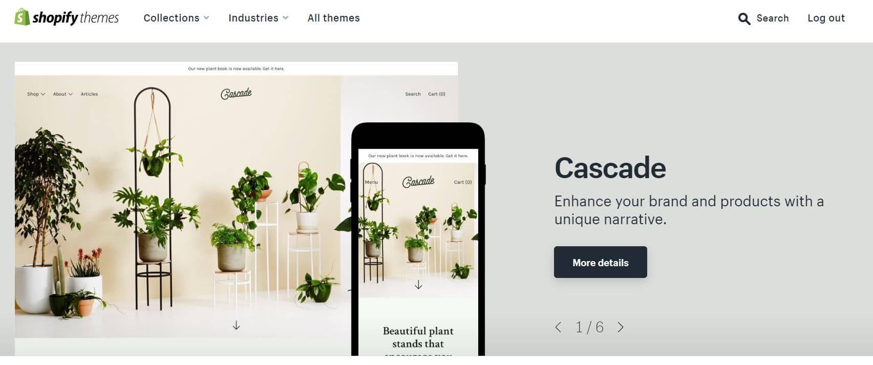 Choosing a Shopify theme