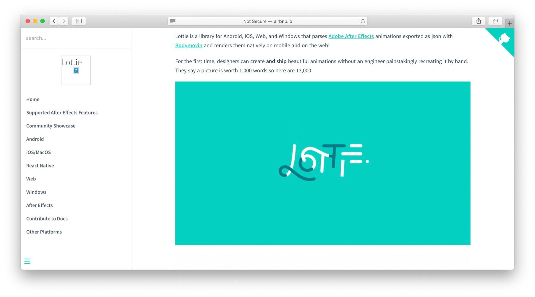 JavaScript animation libraries: Lottie