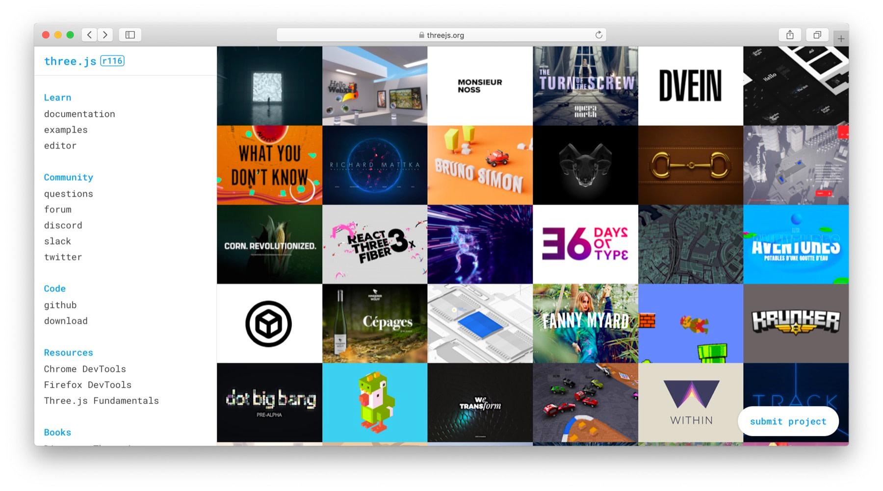 JavaScript animation libraries: Three.js