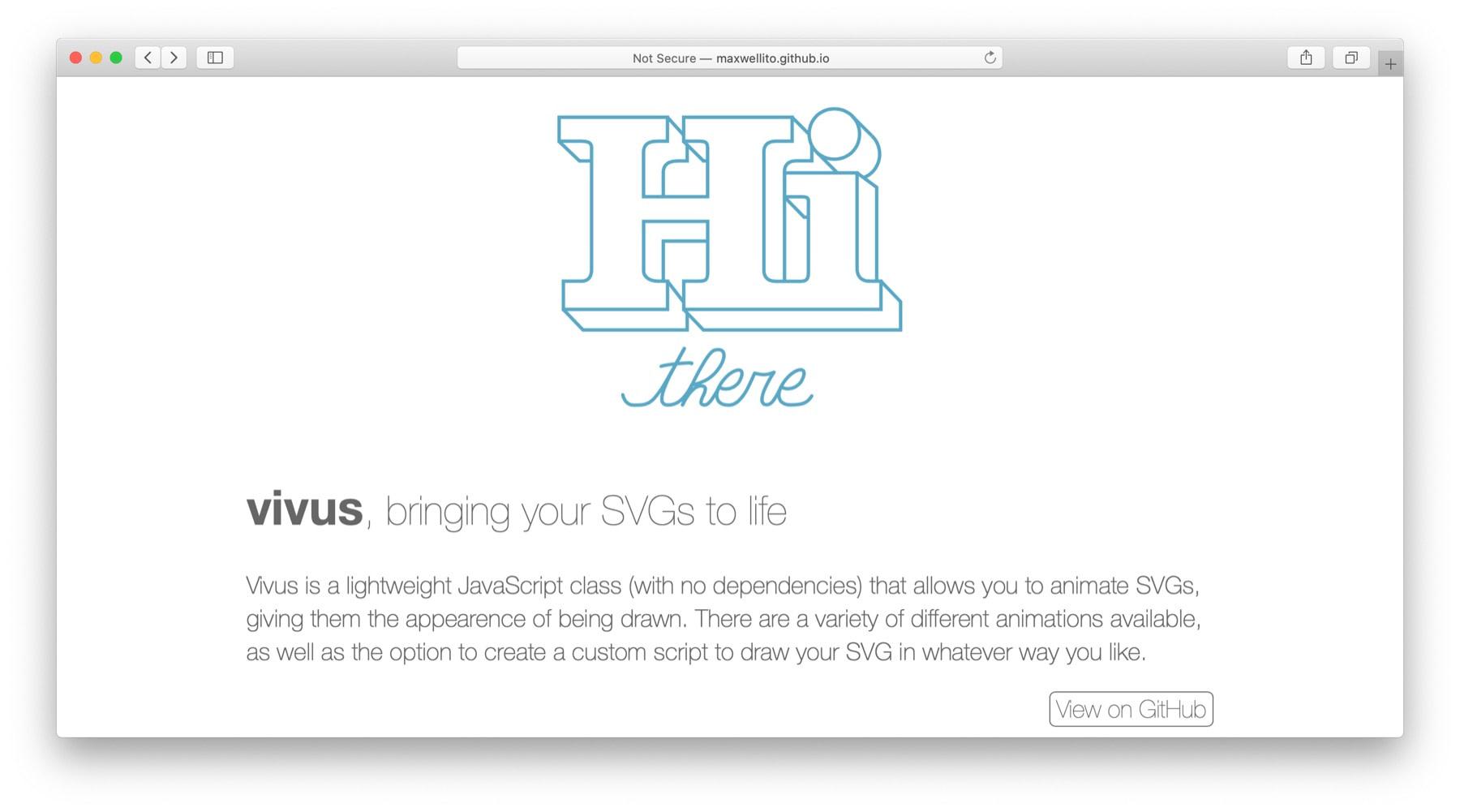 JavaScript animation libraries: Vivus