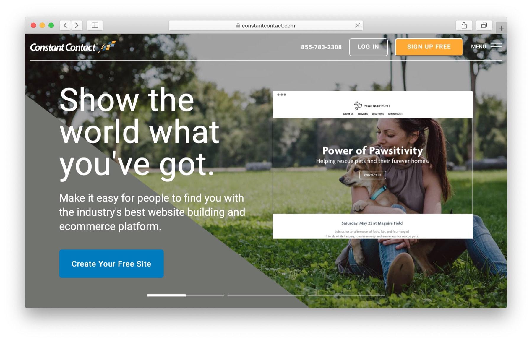 Free website builders: constant contact builder