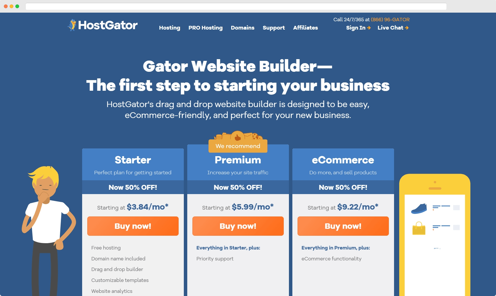 cheapest website builder: gator website builder