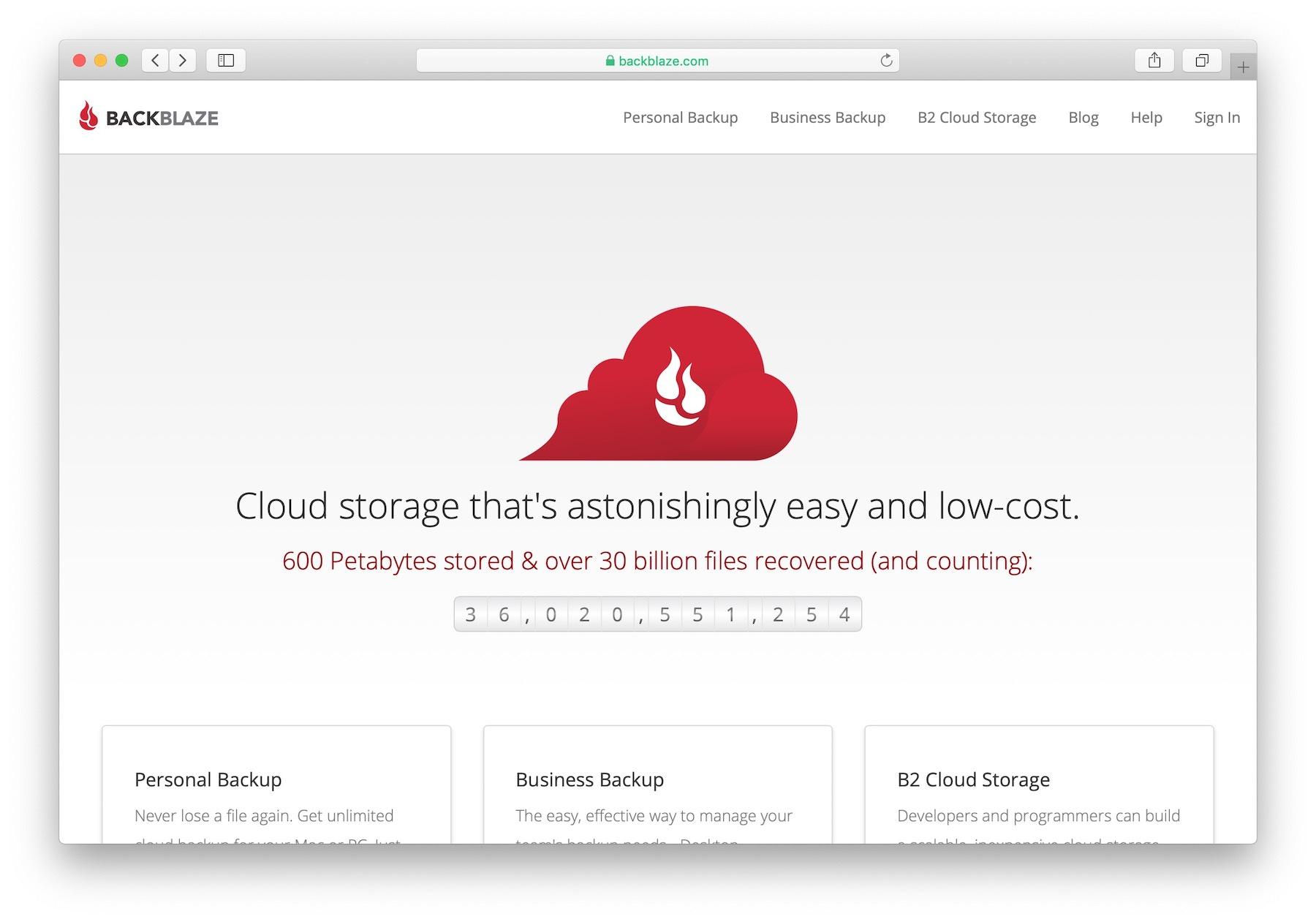 Best online cloud backup services: #1 Backblaze