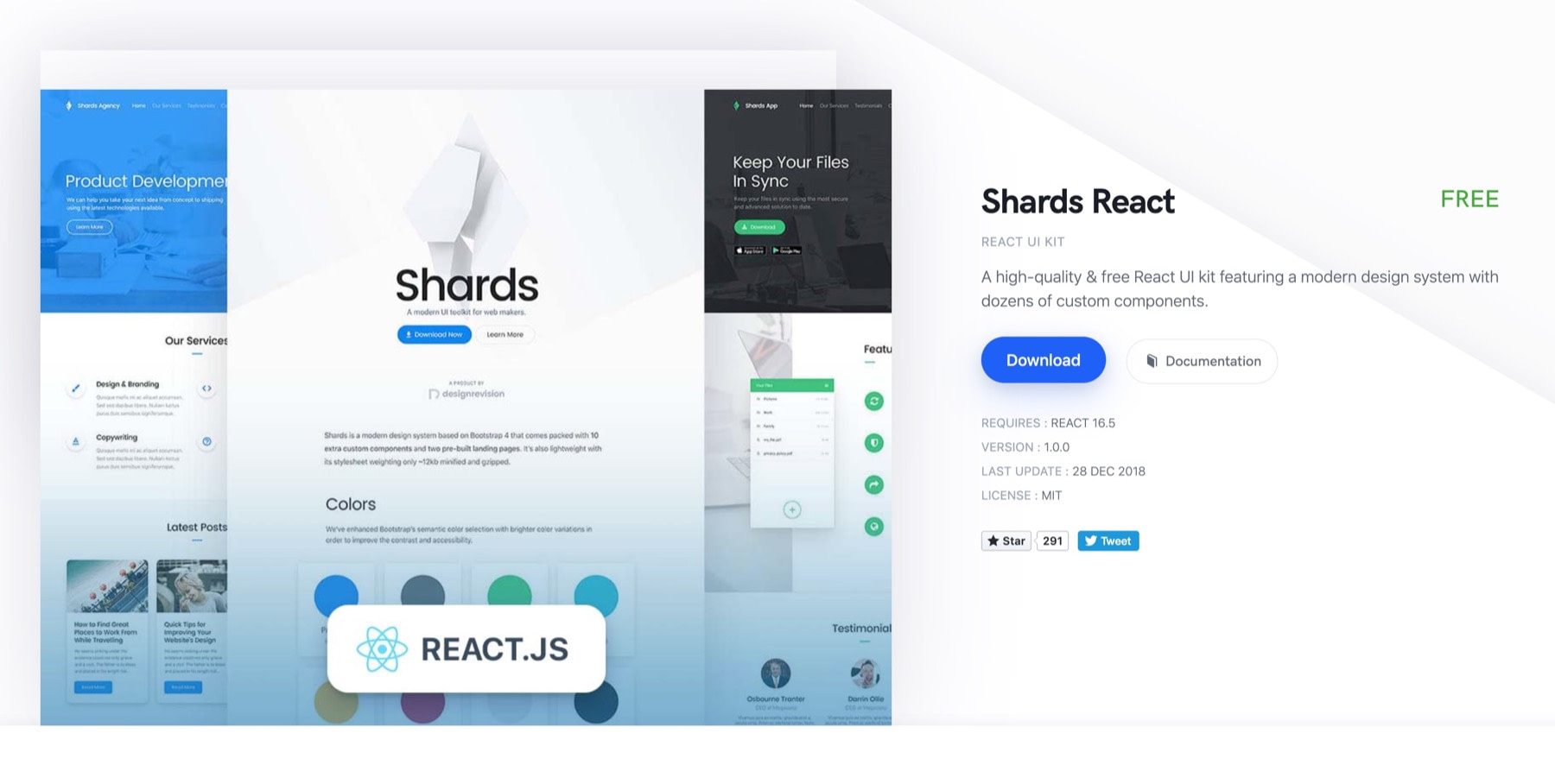 React UI component libraries: shards