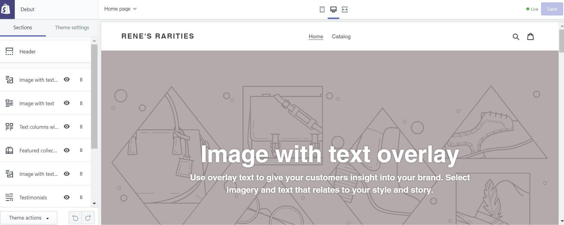 Customizing a Shopify theme