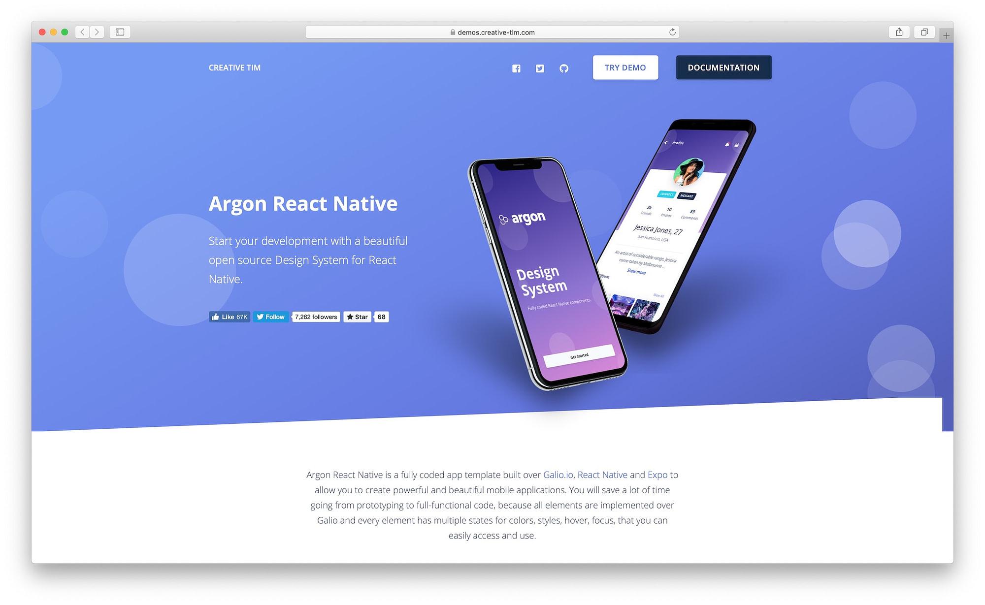 Argon React Native