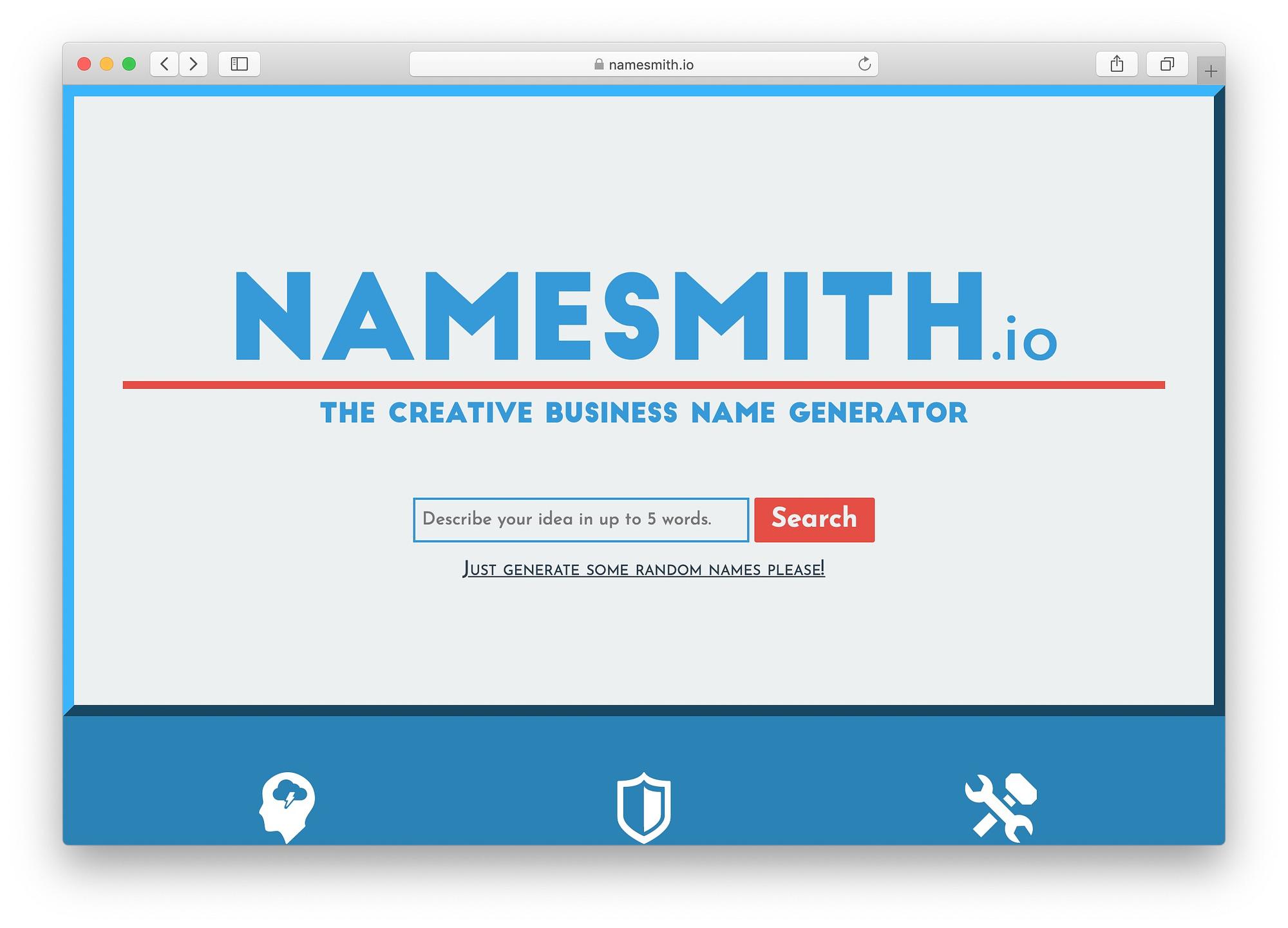 Best free business name generators: NameSmith