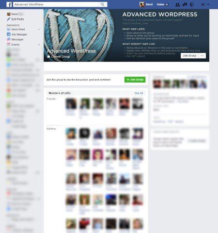 Advanced WordPress Facebook Group