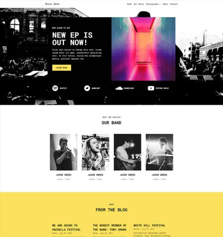 Best music WordPress themes: Neve