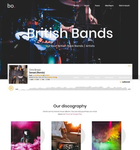 Best music WordPress themes: Sydney
