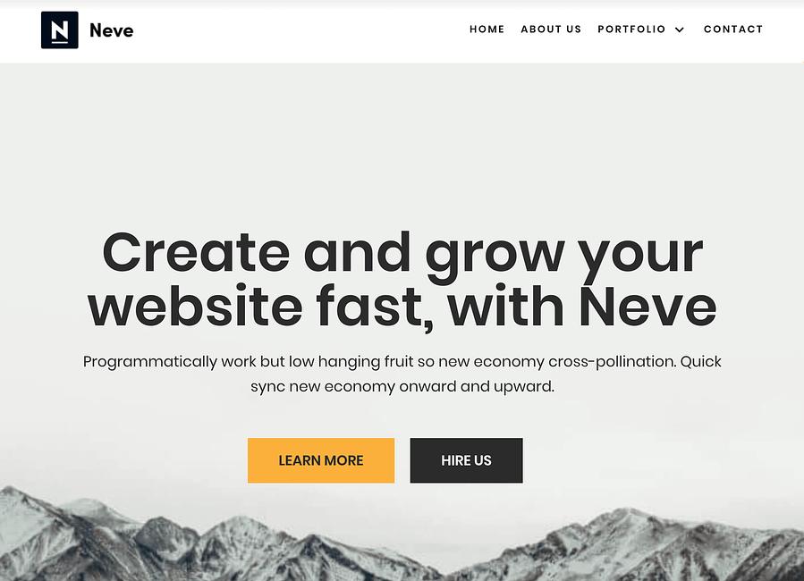 Hoe maak je een WordPress-website: je nieuwe Neve-huisontwerp