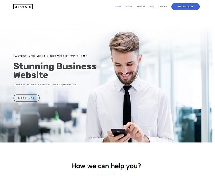 SEO friendly WordPress themes: Astra