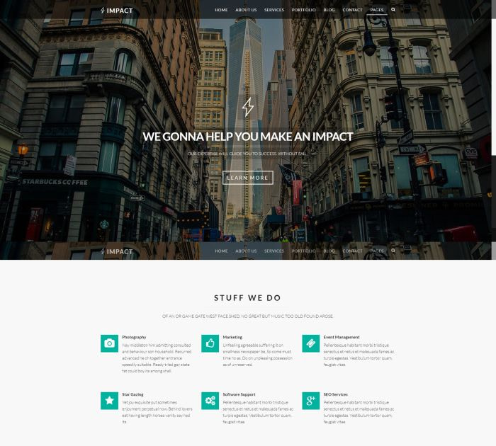 Best Bootstrap 4 templates: Impact