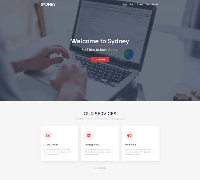 Best Themes for Thrive Architect #6: Sydney