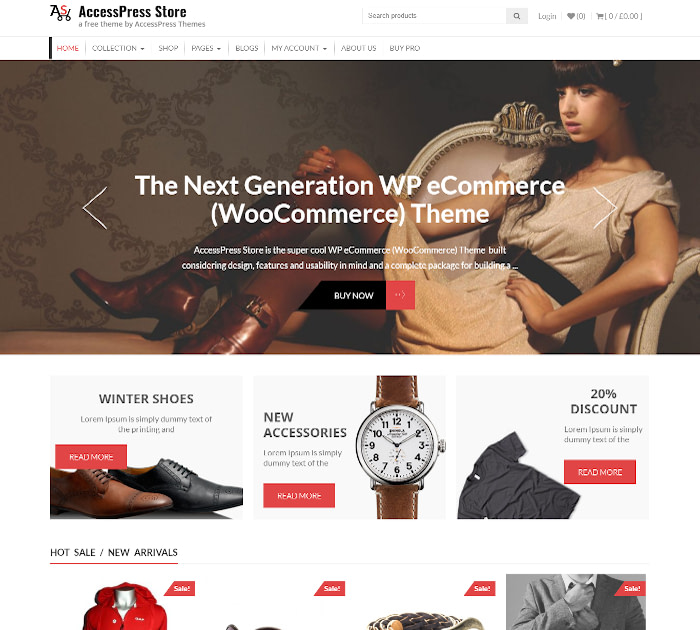 Fastest WooCommerce themes: AccessPress Store