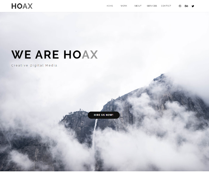Best Adobe Muse Templates: HOAX