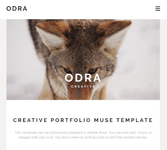 Best Adobe Muse Templates: ODRA