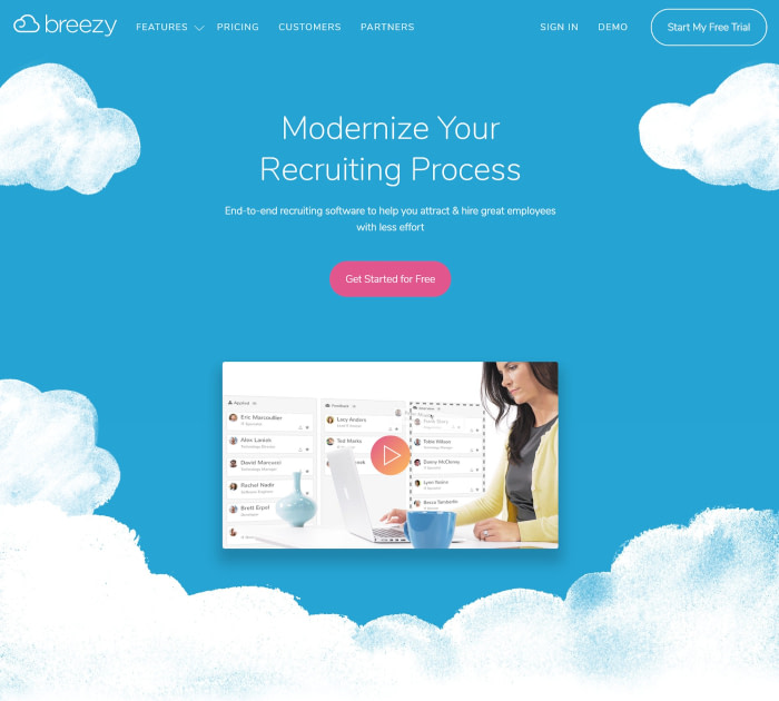 Best applicant tracking software: Breezy