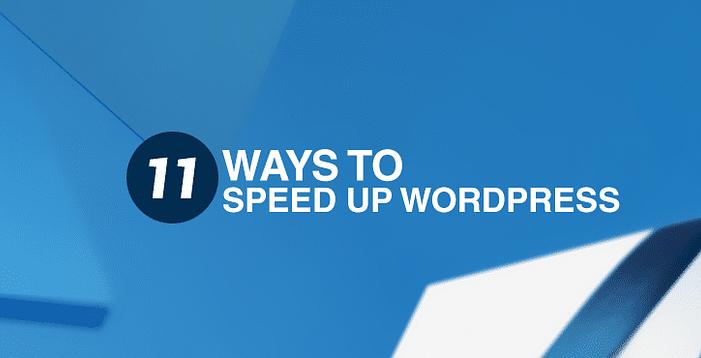 11種加速WordPress的方法