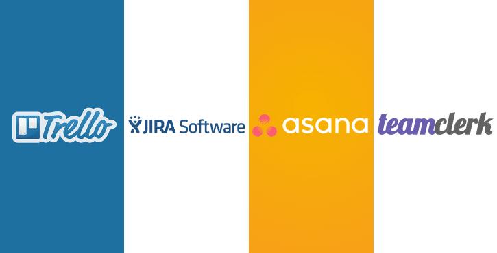 JIRA vs Trello vs Asana vs TeamClerk