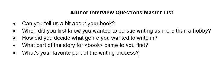 Author Master Lists