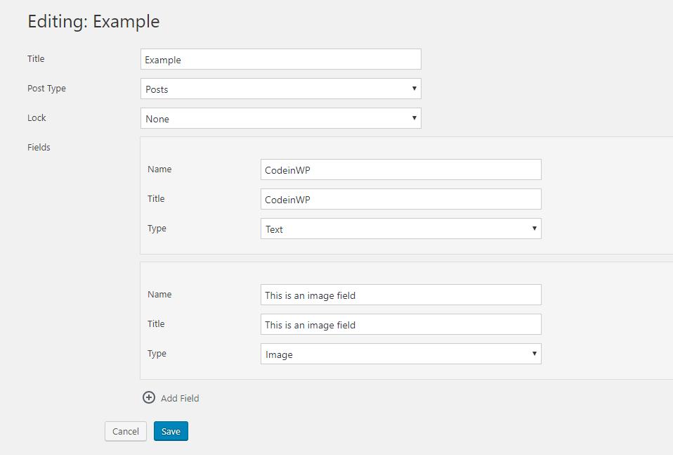 gutenberg editor custom fields