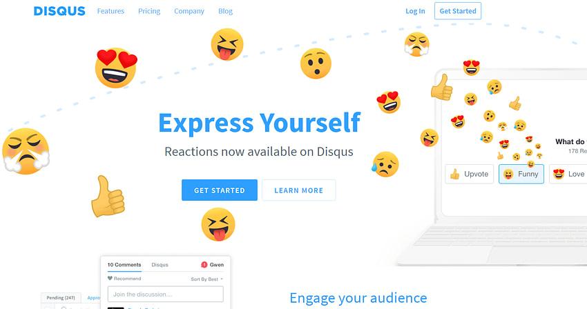 Disqus Comments Homepage